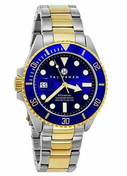 Professional Dive Watch Mens 23 K Gold Plated Two Tone Stain