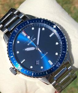 seven seas nh35 automatic mens blue dive