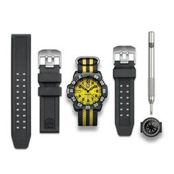 Luminox Signed Scott Cassell 3955.SET Dive Watch Yellow Dial
