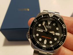 Seiko SKX007K2 Automatic 200m Dive Watch- Upgraded Sapphire