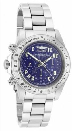 Invicta Men's Speedway Chronograph Blue Textured Dial Stainl