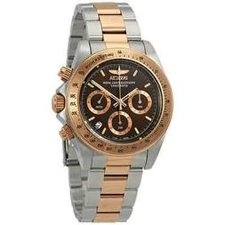 Invicta Speedway Chronograph Brown Dial Two-tone Mens Watch