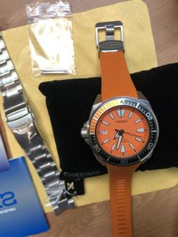SEIKO SRPC07 PROSPEX AUTOMATIC SAMURAI  DIVE WATCH + Orange