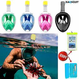 Swimming Full Face Anti Fog Snorkel Mask Surface Diving Snor