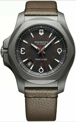 Victorinox Swiss Army Men's I.N.O.X. Titanium Brown Strap Di
