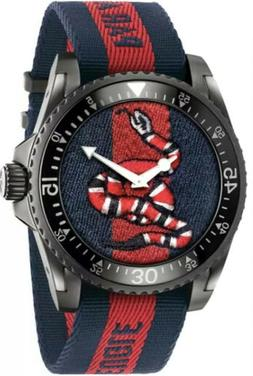GUCCI Timeless SNAKE RARE! Gucci Dive Men's XL Watch NEW Y