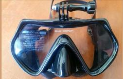 Viper Mask with Gopro Camera Mount Tempered Glass Scuba Dive