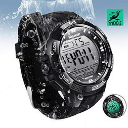 TEKMAGIC Digital Watch 100m Underwater Waterproof for Swimmi