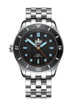 PHOIBOS WAVE MASTER PY009C 300M Automatic Dive Watch Black,