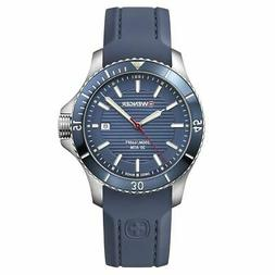 Wenger 01.0641.124 Men's Seaforce Blue Dial Blue Silicone St