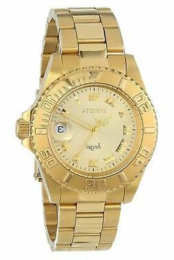 Invicta Women's Angel 14321 Gold Stainless-Steel Swiss Quart