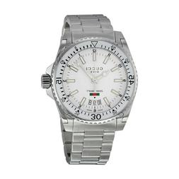GUCCI YA136302 Dive White Dial Stainless Steel 40mm Men's Wa